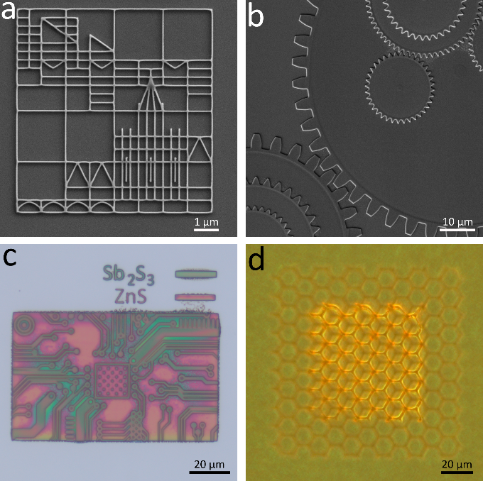 2D and 3D semiconductor structures produced by direct patterning